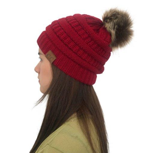 Red 510x510 - Touca de Croche Feminina com Pom Pom