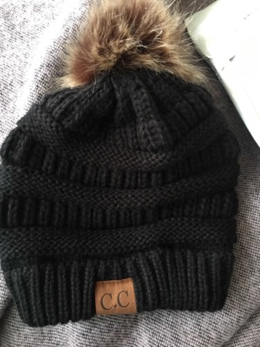 Touca de Croche Feminina com Pom Pom photo review
